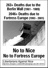 No to Fortress Europe, No to Nice