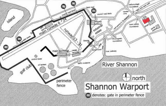 Map of Shannon airport