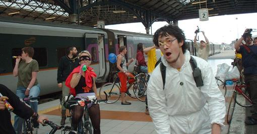Critical Mass at Heuston station in Dublin