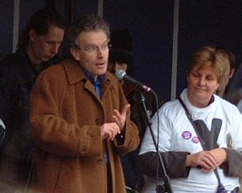 Fintan O'Toole speaks at pro choice rally