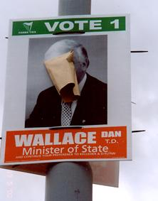 Brown envelope on election poster