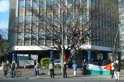 Tree protest at Isreali embassy