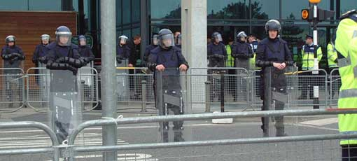 Riot cops in Ireland