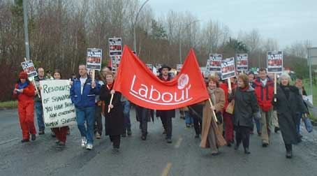The Irish Labour Party at Shannon anti-war protest