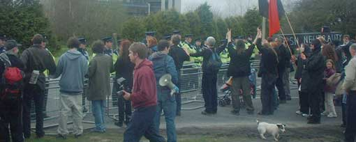 Gardai barricade at Shannon
