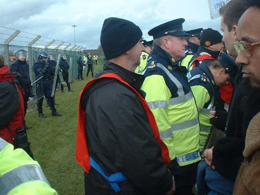 Riot police at Shannon