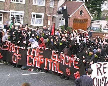 Black bloc in Dublin