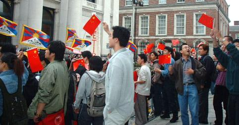 Counter demonstration of Chinese nationalists