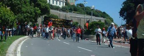 Anarchists at G8 demonstration in Genoa