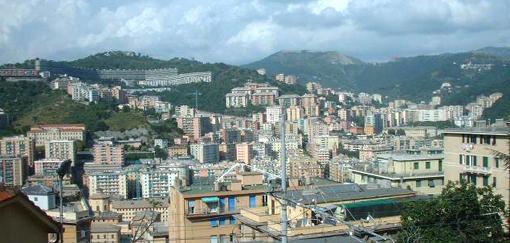 View of the city of Genoa