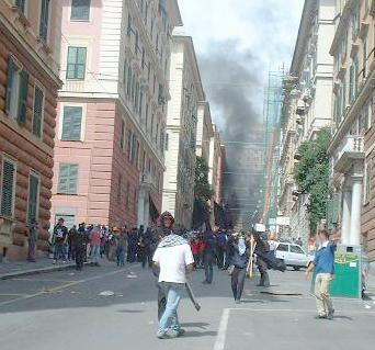 Smoke at the G8 protests in Genoa
