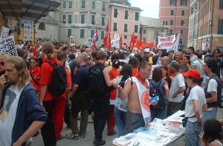 The left in Genoa