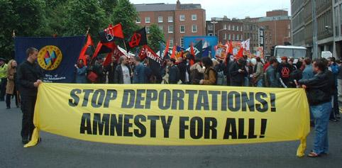 Stop deportations demo in Dublin