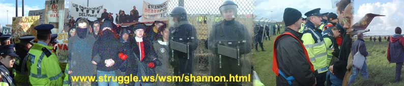 Shannon airport protests